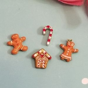 Origami Owl Gingerbread Holiday Charms